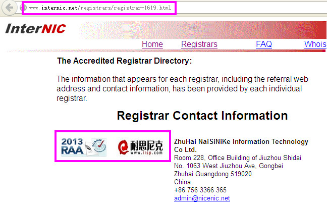 2013 RAA ICANN Accredited Registrar http://nicenic.net