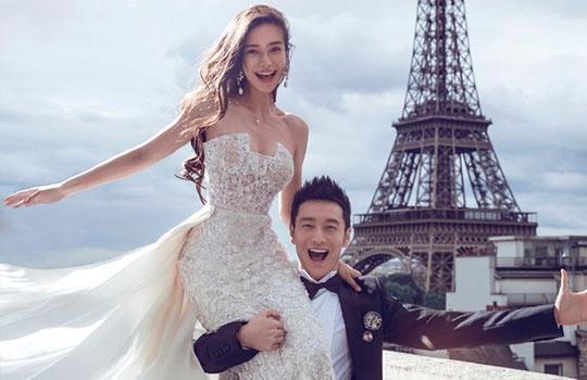 黄晓明baby结婚照