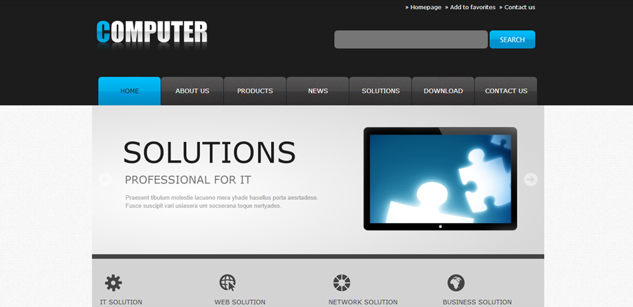 电子科技外贸网站