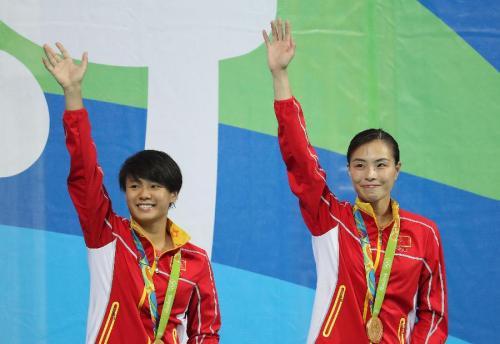 双人3米跳水夺冠