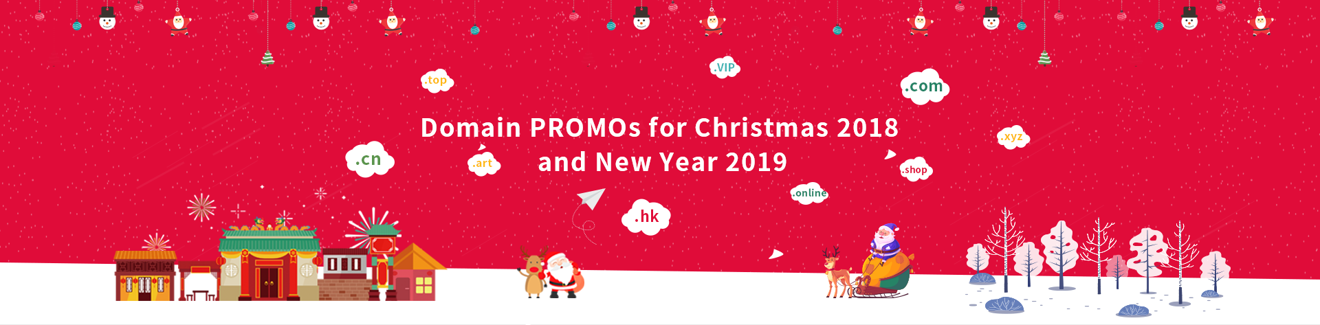 NiceNIC is offering domain registrations and domain transfers with very competitive prices for Christmas 2018 and New Year 2019.