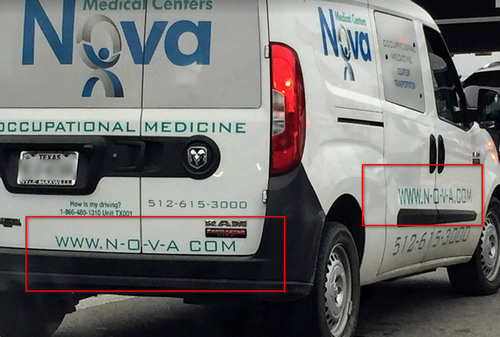 Picture of Nova van with domain n-o-v-a.com