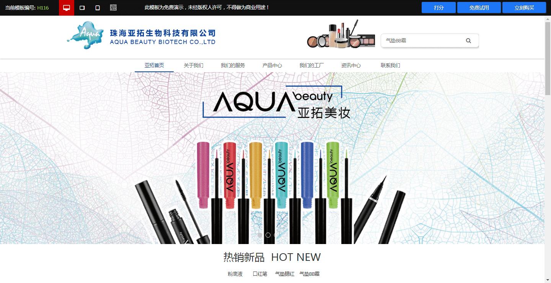 美妆行业网站模板