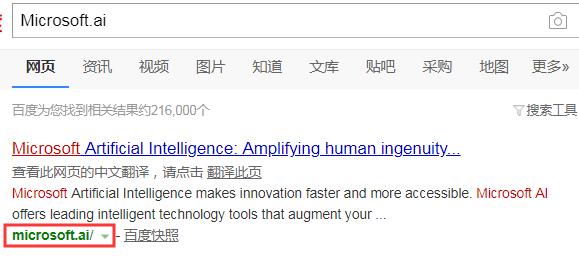 微软AI官网